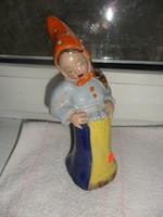 Art deco Rahmer Mária kerámia figura kislány