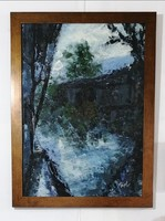 """""""Water Mirror"""" modern framed oil painting! Direct from the artist!"""
