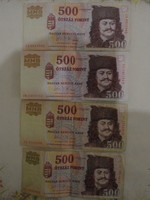 500 Ft évfordulós papírpénz ( 2006 , 4 db.)