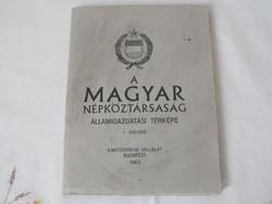 Magyar Népköztársaság Államigazgatási térképe ( 1963 )