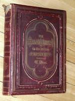 PIROS BŐRKÖTÉSES német DORÉ BIBLIA  a Vulgata szerint 1868 Stuttgart - ÚJSZÖVETSÉG