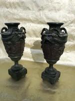 1 ft os aukció. Francia Empíre bronzin vázapár.