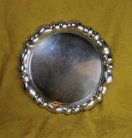 Antik Ezüst Tálca 25,5 cm 355 g
