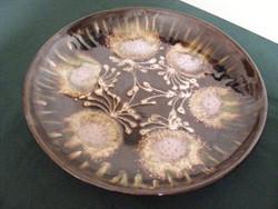 Retrokkerámia tál tányér nagy 33cm