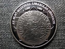 A magyar nemzet pénzérméi Az első Madonna ábrázolás dénáron 1458-1490 .999 ezüst (id46239)