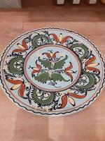 #154, gyonyoru nagy kerámia tányér fal dekoráció, 30cm szeles