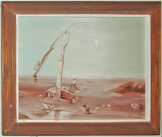 Gémeskút tájkép Hajas jelzéssel