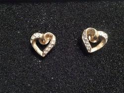 Aranyozott ezüst cirkón köves fülbevaló
