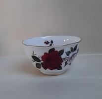 4291 - Nagyon szép rózsás angol mogyorós-, müzlis tálka