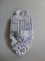 Ritka,olasz kerámia szenteltvíz tartó