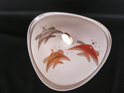 Wallendorf porcelán aranyozott hal díszítésű nagy méretű bonbonier kínáló
