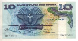 10 kina 1985 Pápua Új Guinea aUNC
