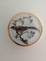 Rosenthal porcelán ékszerdoboz, fácán mintás dekorral
