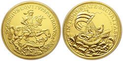 RITKASÁG!!2019 Szent György arany (99,9%) 50 gramm színarany csak 100db UNC