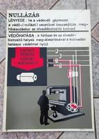 2.plakàt , munkavédelmi,nem reklàm, szocreál szocializmus múltból műanyag lemezen található! Eredeti