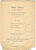 Benkő Zoltán aláírása, Pécs 1961 Első önálló hangversenye emléke