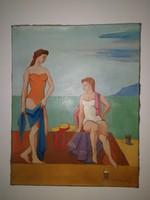 Medveczky Jenő -  olaj, vászon, 1930-1940-es évek, eredeti, garanciával.