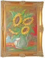 Virágcsendélet ismeretlen festőtől - csak a festmény, a keret nem része az eladásnak