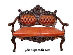 A181 Csodaszép antik barokk bőr kanapé