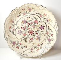 Zsolnay nagyméretű,dúsan aranyozott gyönyörű,kézzel festett dísztányér /30cm!/