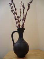 Kerámia kancsó váza fekete magassága 21 átmérő 12x24 cm  Ausztria jelzéssel