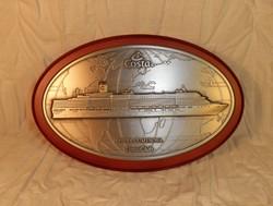Costa Luminosa óceánjáró hajó emlék plaket