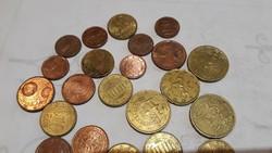 Euro centek 2000 -tól  2004 ig mind ritka 32 db 39999 ft