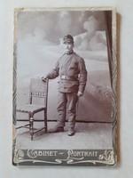 Antik fotó katona műtermi fénykép