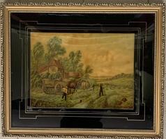 Tájkép nyomat XIX. századból