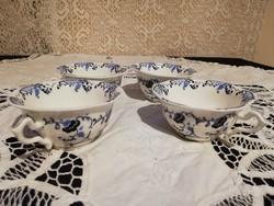 Eladó régi angol kék mintás porcelán kávés csészék!