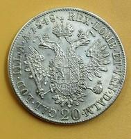 Ezüst 20 krajcár 1848 A.
