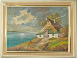 Tanya a tóparton - ismeretlen festő képe