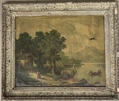 2 dbTájkép nyomat XIX. századból