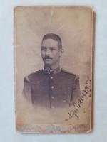 Antik katona fotó 1896 Schmidt Ede Budapest műtermi fénykép