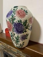 Apátfalvi / Bélapátfalvi váza ! Népi festett keménycserép