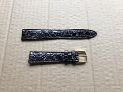 Óraszíj sötét barna mintás műbőr - Új - (05) 11,5 / 7 cm