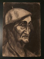 Antik portré ceruza rajz
