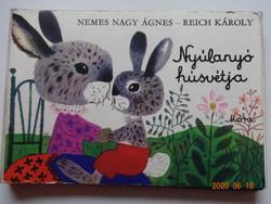 Nemes Nagy Ágnes- Reich Károly: NYÚLANYÓ HÚSVÉTJA - kemény lapos leporelló mesekönyv (1982)