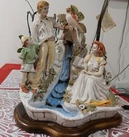 Monumentális művészi olasz szobor kompozició vízesèssel és lámpával!