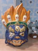 #167, Nagy kínai maszk fal dekoráció 30cm