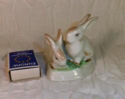 Hollóházi porcelán nyuszikák