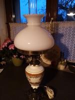 Nagyméretű lüszter majolika lámpa