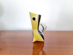 Retro Zsolnay porcelán váza Török János terve