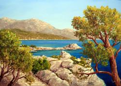 Lantos György:Sziklás tengerpart 50x70 cm