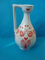 Zsolnay füles váza magyaros dekorral