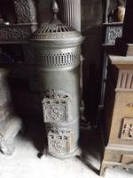 Csodás Bécsi Meidinger Koksz öntöttvas kályha 1930 vaskályha hibás tűztérrel