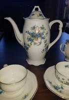 Antik 10 személyes Pirkenhammer porcelán mokkás/kávés készlet, nem herendi