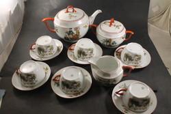 Antik jelenetes teás készlet 390