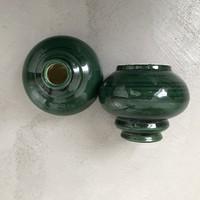 Elegáns retró kerámia váza- vagy gyertyatartó-pár MJ jelzéssel. Szinte hibátlan darabok.