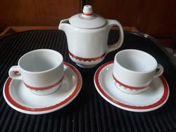 Alföldi porcelán, retro kávés készlet, 2 személyes